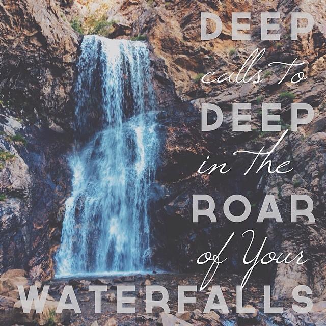 Deep calls to deep . . . (Psalm 42:7) #psalms #utah #adamscanyon