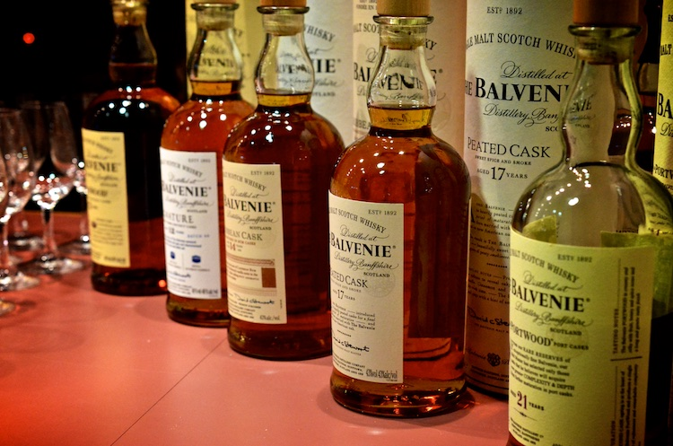 Selection of Balvenie whisky from my trip to Scotland in 2012 where I met David Stewart