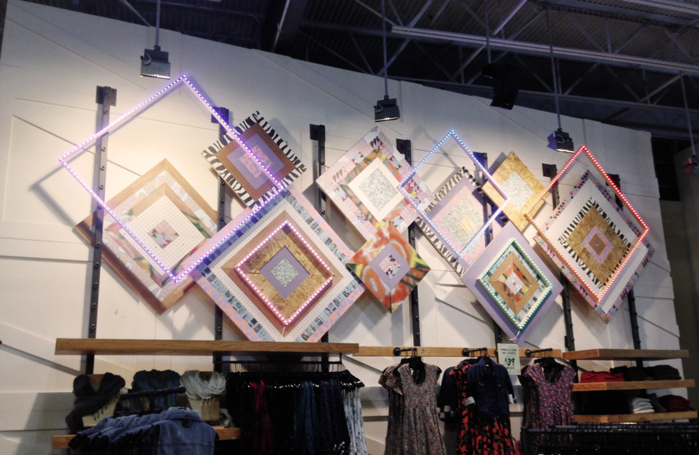 """God's eyes"" interior wall display for the Menlo Park Urban Outfitters location"