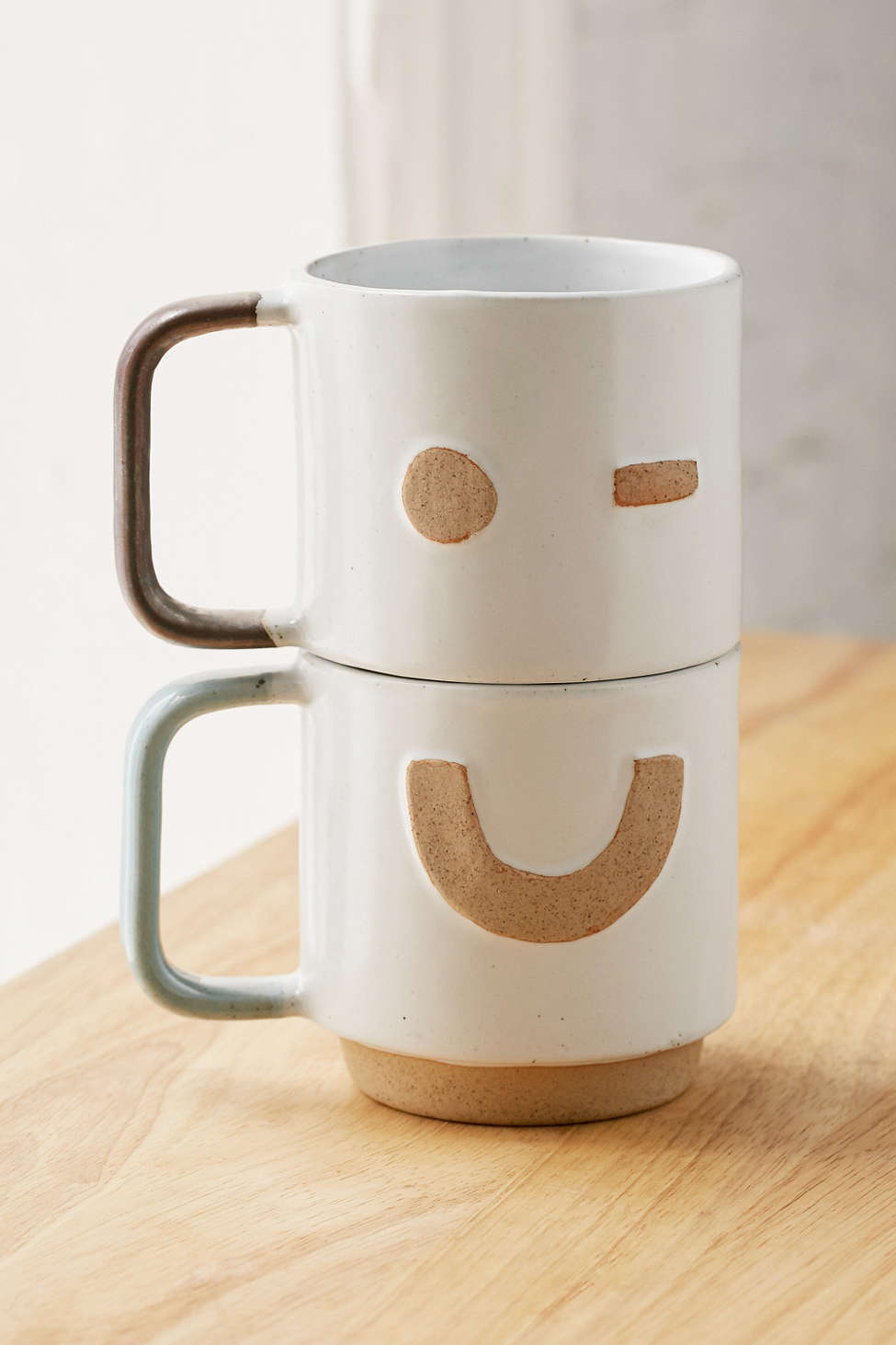 Stacking Face Mugs