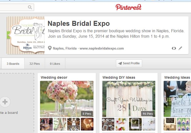 And be sure to check out Naples Bridal Expo on Pinterest