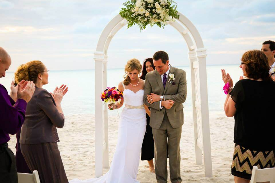 Beach weddings available close to the Hilton Naples with transportation for your guests.