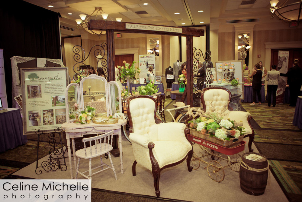Country Chic's booth at the Naples Bridal Expo
