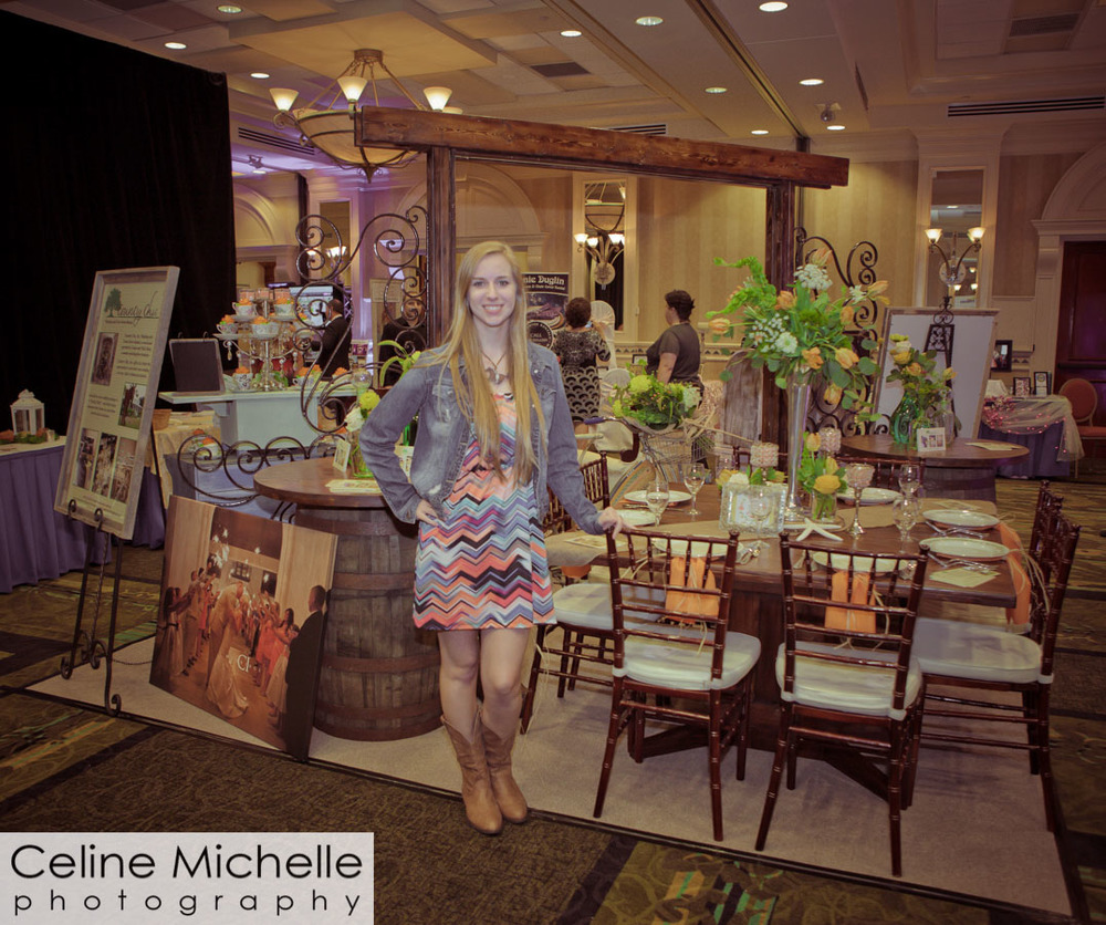 Nikki Haas with Country Chic gets ready to greet brides at the Naples Bridal Expo.
