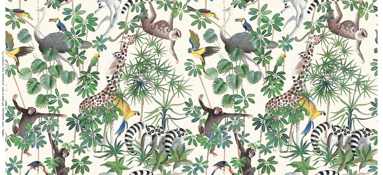 La Jungle Des Animaux Rideaux Rive Gauche