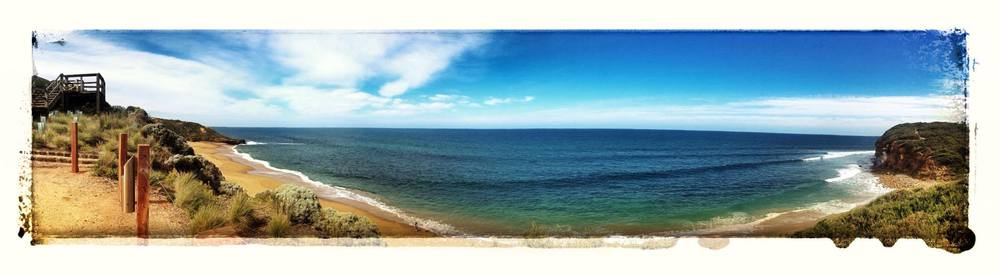 The world famous Bells Beach