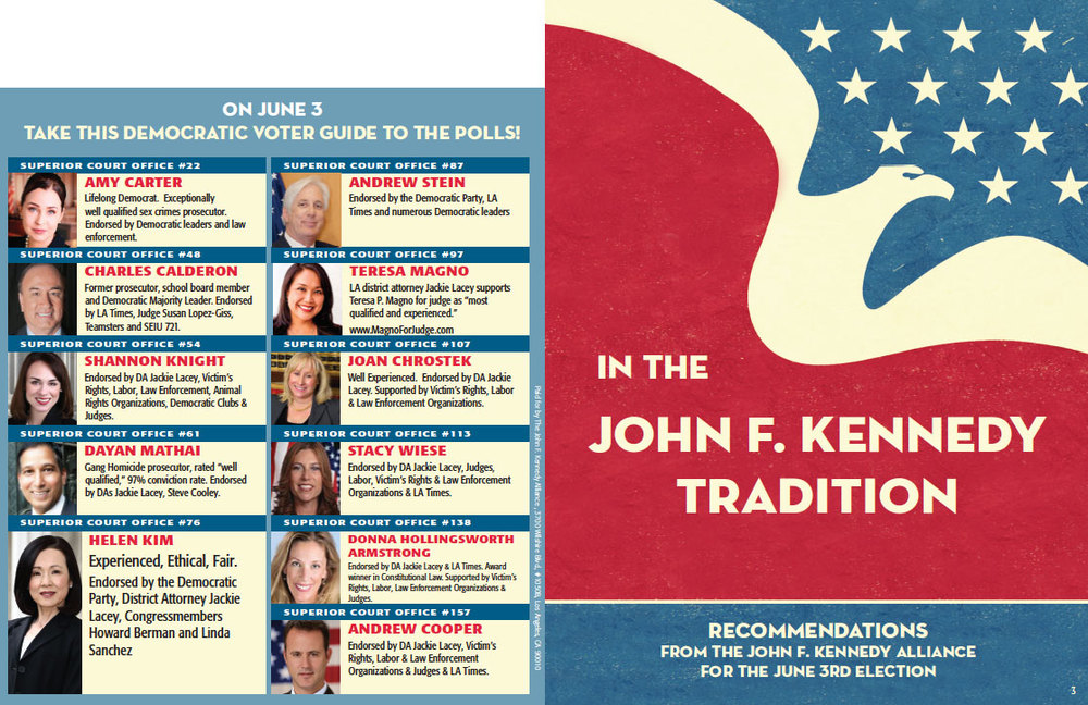Democratic Voter Guide, Front and Back
