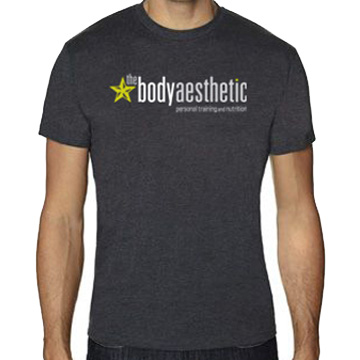 Men's Charcoal Grey T-Shirt $25. Combed cotton/poly jersey  Printed on Next Level Men's CVC Crew 60% cotton 40% poly 4.3oz Sizes S - XL