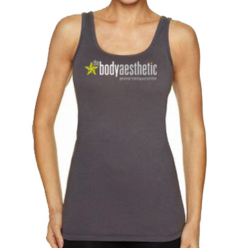 Women's Dark Grey Jersey Tank Top   $20. 57% Combed Cotton 38% Poly 5% Spandex Jersey 4.3oz Printed on Next Level Women's jersey tank Sizes S - XL