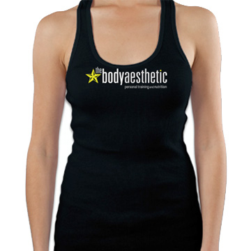 Women's Black Racer Back Tank Top $25. 100% Rib Cotton 3.2oz Printed on American Apparel tank Sizes XS - L