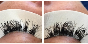 Cluster Lashes clumped together. Source: Bella Blog