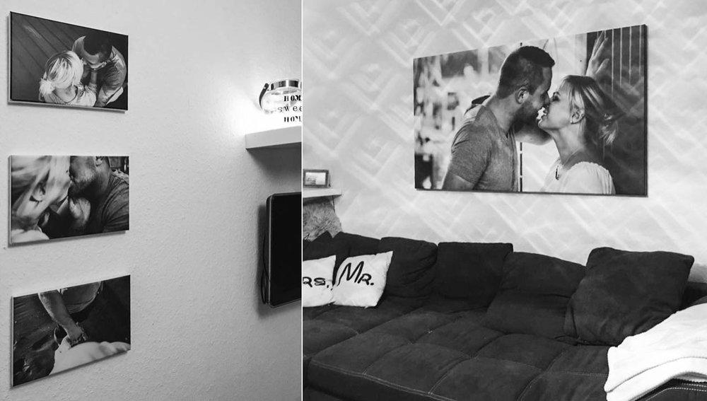 Die Fotos sind auch schon an den Wänden der zwei Lovebirds gelandet! Yeah!