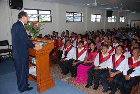 2010 graduation ceremony in Kathmandu, Nepal