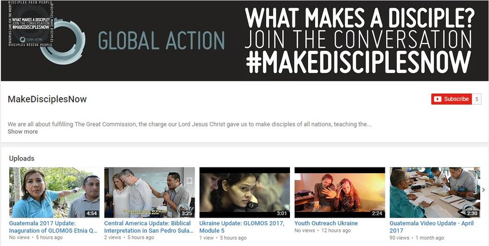 Visit our YouTube channel and get inspired from what the Lord is doing in our midst in Central America, India, and Ukraine! Click here or the banner above to see our most recent videos.