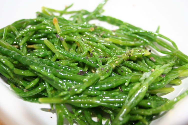 Simply Samphire - with olive oil, black pepper & lemon juice