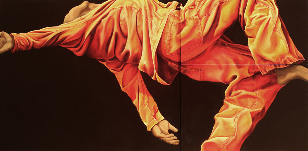 "Joshua  30"" x 48""  Oil on Multi level canvas"