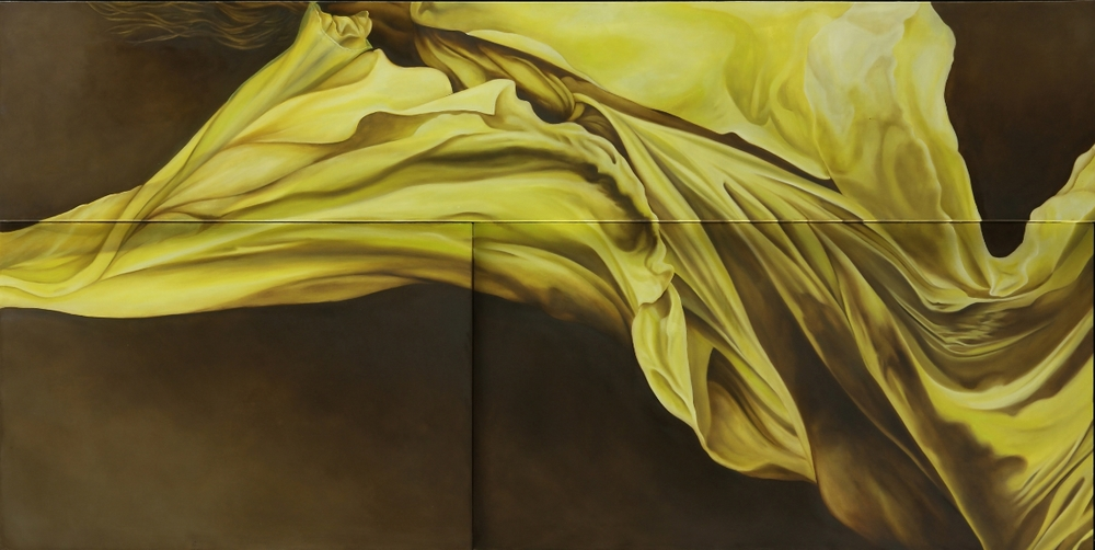 "Chloe  36"" x 60""  Oil on Multi level canvas"