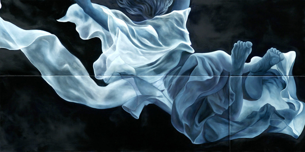 "Candice  24"" x 48""  Oil on Multi level canvas"