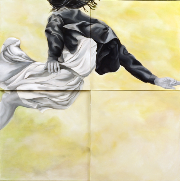 "Rachel 48"" x 48"" Oil on Multi level canvas"