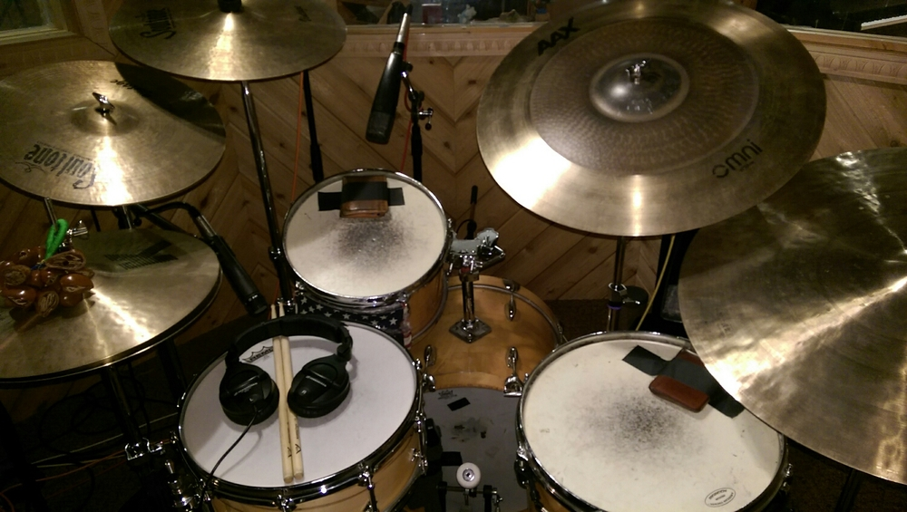 Lots of Cymbals at today's session