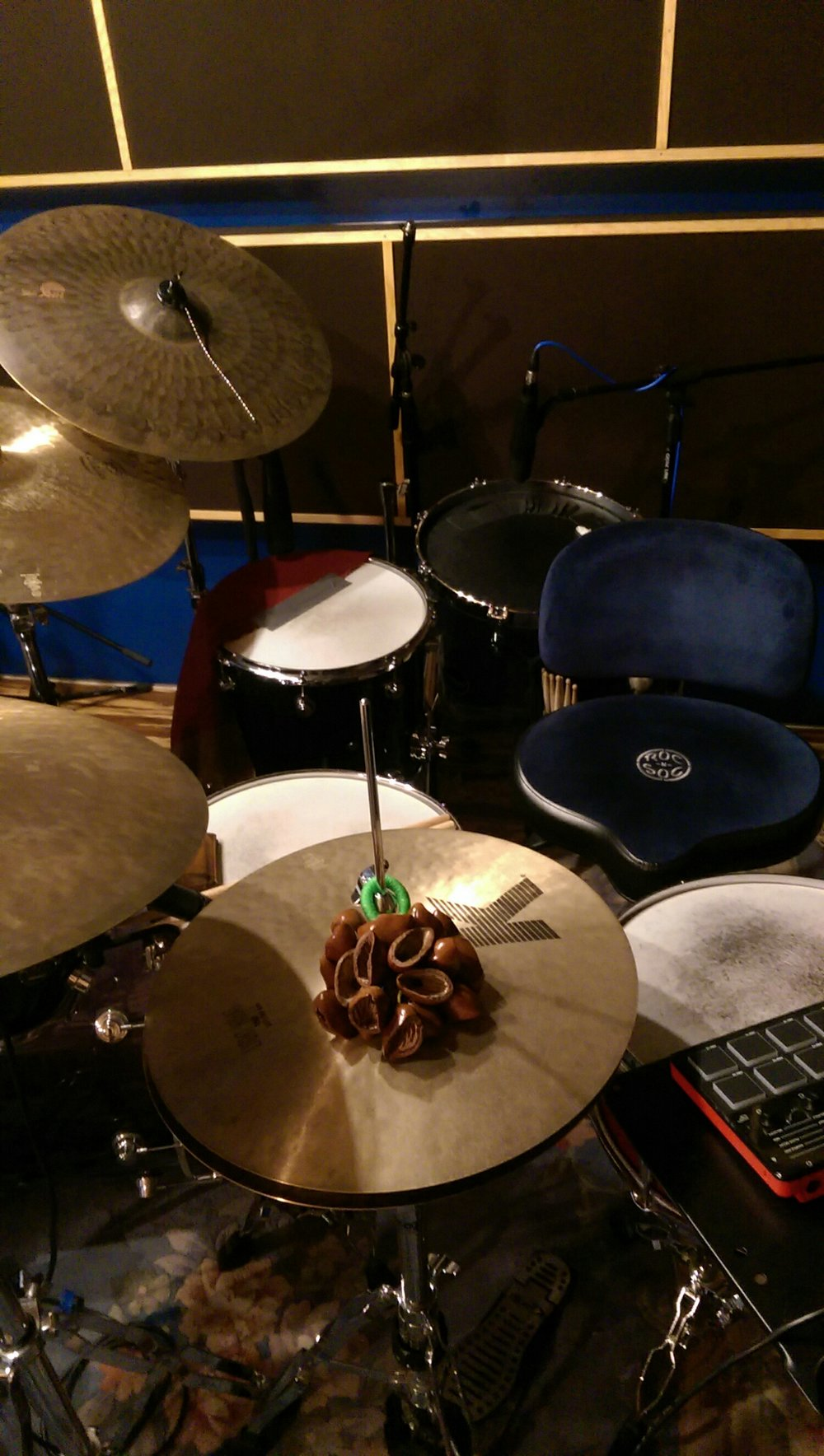 Setup for today's session. Including the first time my pad controller setup will be recorded as a live drum machine.