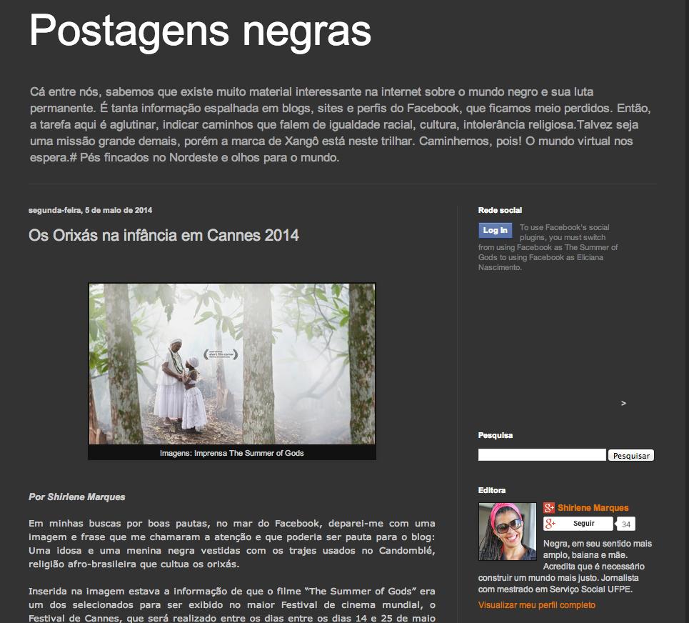 Source:  Postagens Negras , Brasil.