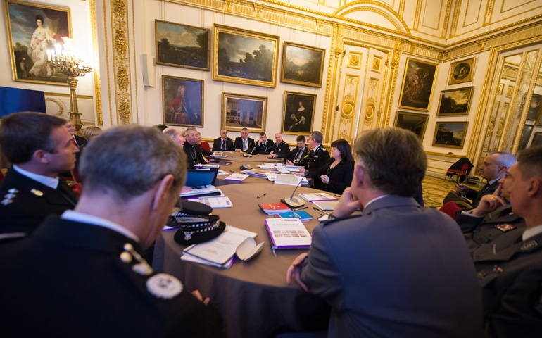 Delegates against human trafficking attend a conference Saturday at Lancaster House in London. (CNS/ Catholic Communications Network/Marcin Mazur)