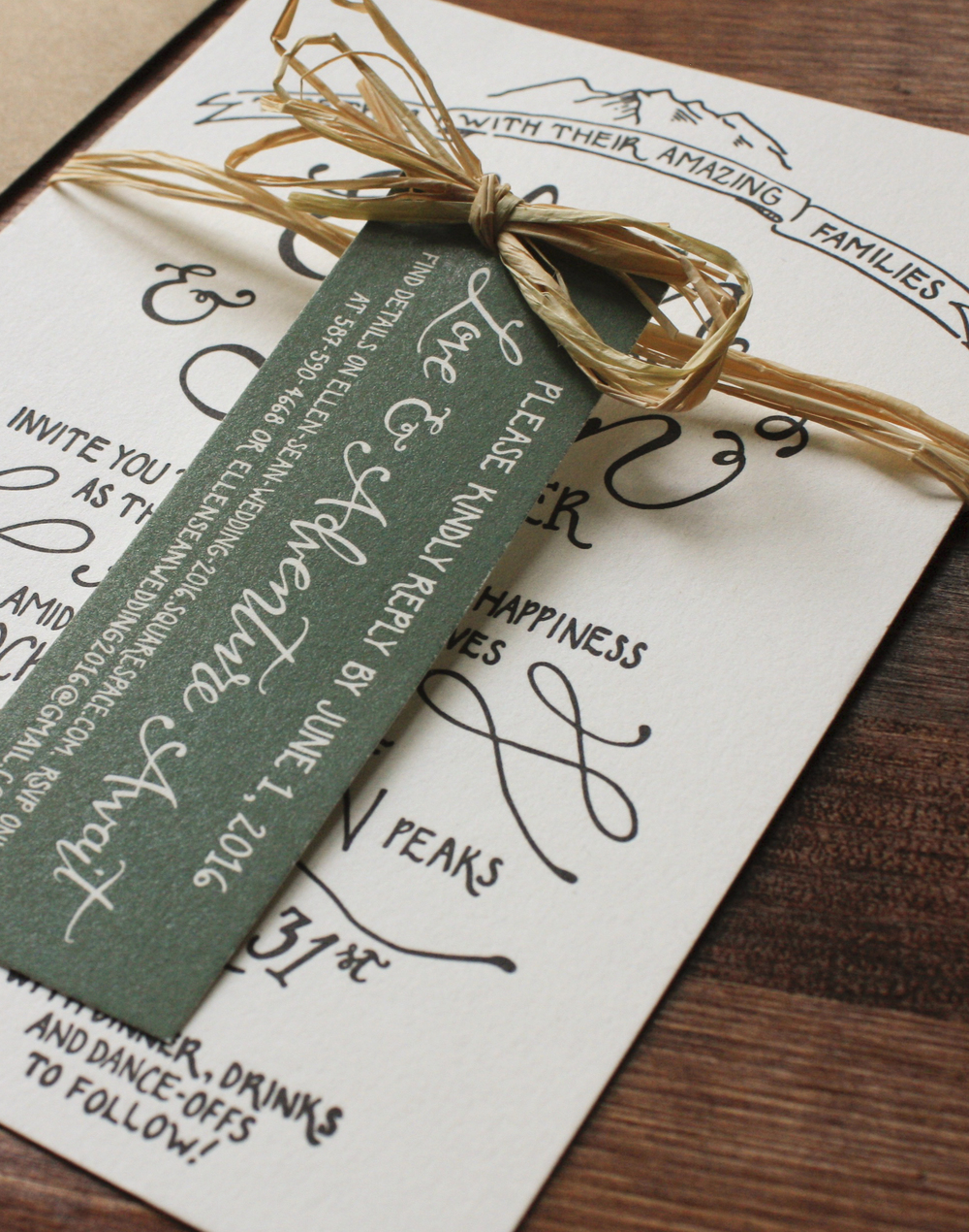 Custom+RSVP+Tag+Wedding+Invitations+|+Thistle+and+Dew