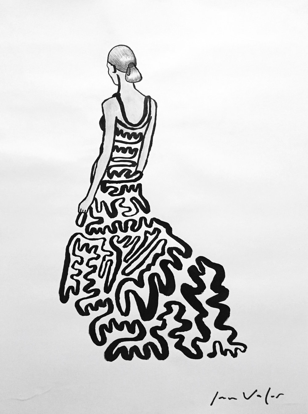 Dress With A Single Line