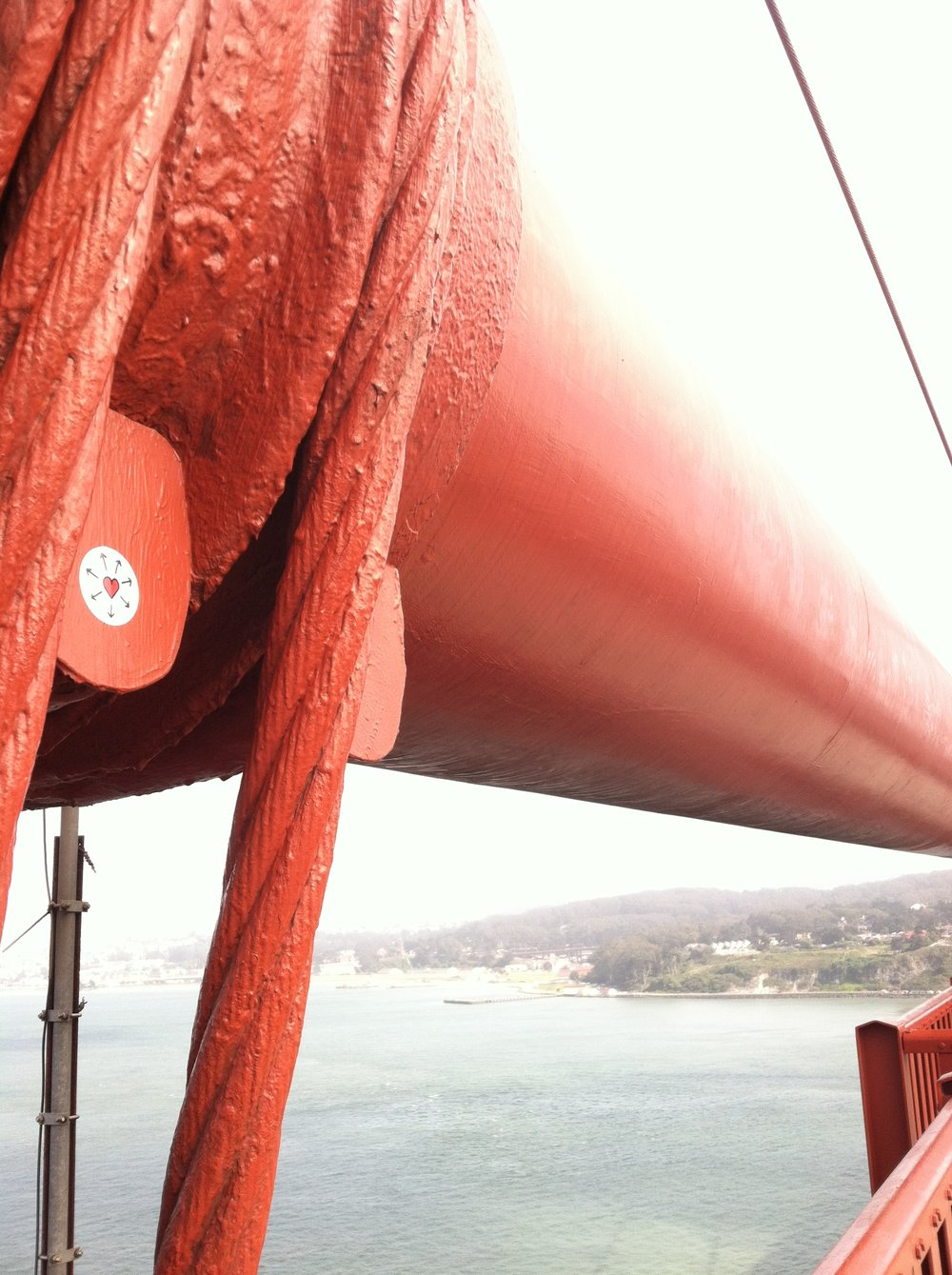 On the Golden Gate Bridge.