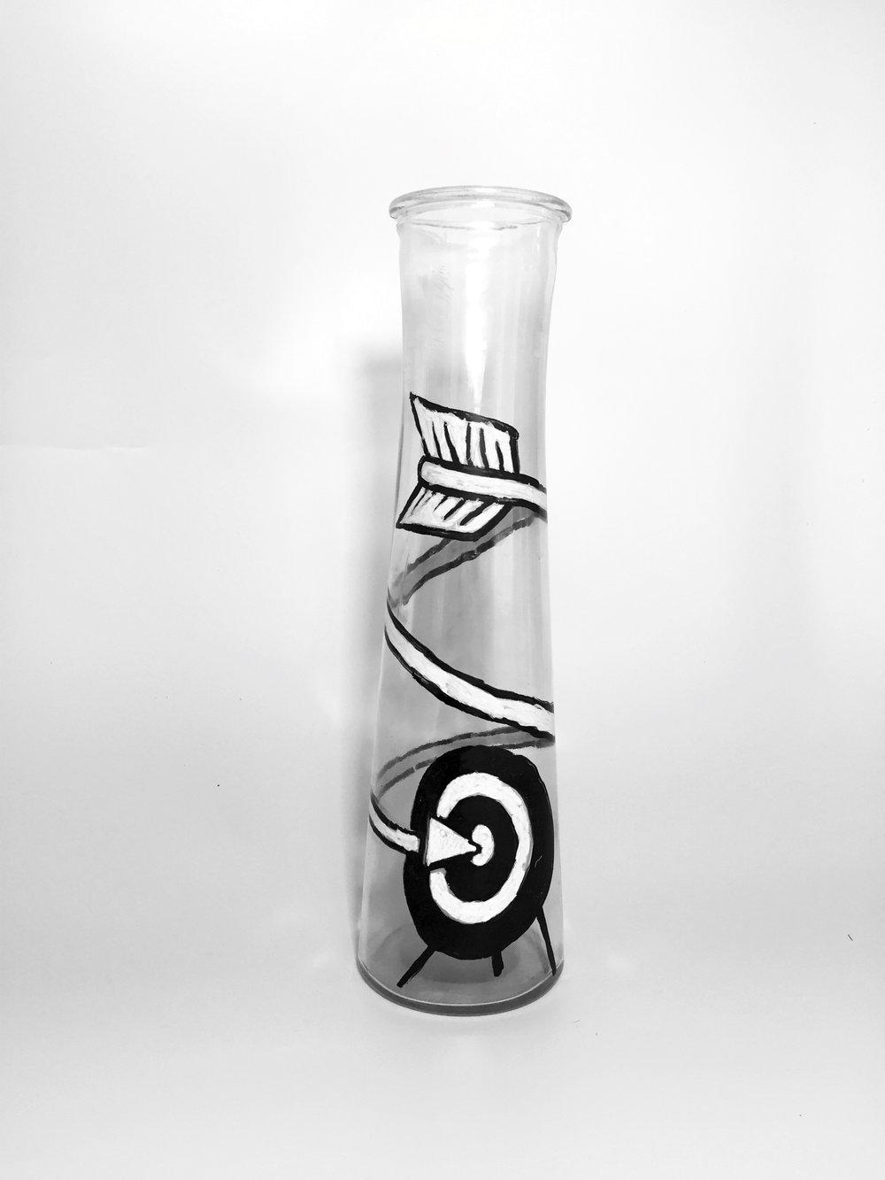 Winding Arrow (On Vase), 2016