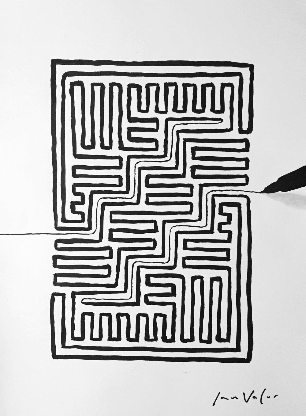 Maze With A Single Line , 2016