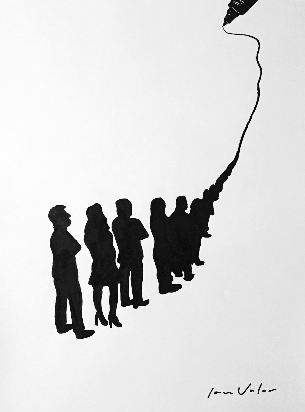 Waiting With A Single Line , 2016