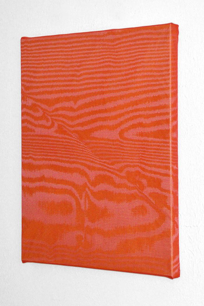 untitled (tarp/mesh) 2014 tarp, aluminum screening, plastic screening 30 x 24 in.