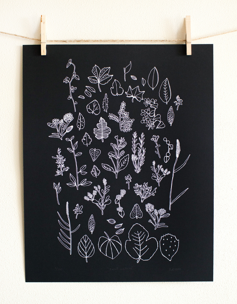 Local Nature, 16'' x 20' screen print by: Leah Duncan'