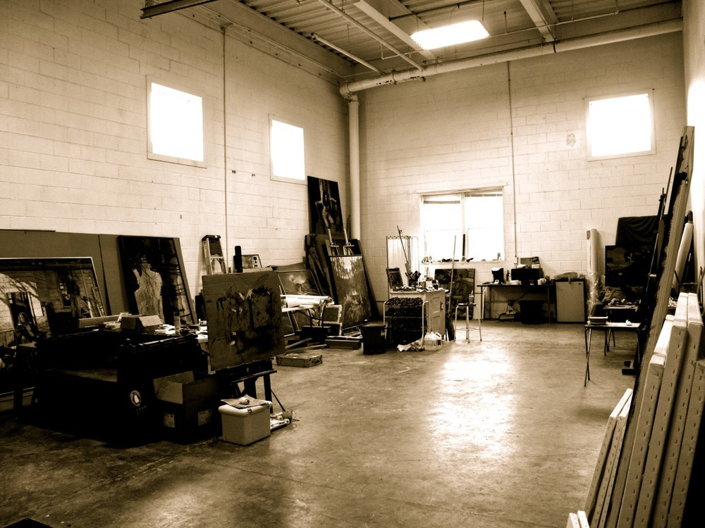 Photo of his light-filled Asheville studio. Photo taken by Julyan.