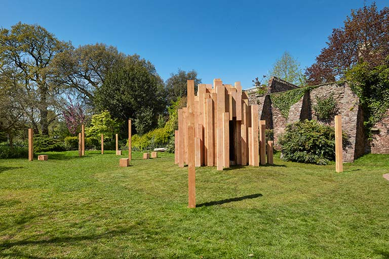 """Hollow is a permanent public artwork created by artist Katie Paterson and architects Zeller & Moye and in association with members of the School of Biological Sciences for Bristols Royal Fort Gardens. Hollow houses a miniature forest of all the worlds trees."" Link to full site."