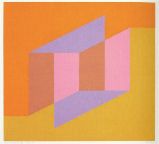 A little bit of beauty to round out a long week. 'Never Before f' (1979) by Josef Albers. Image via Artsy.