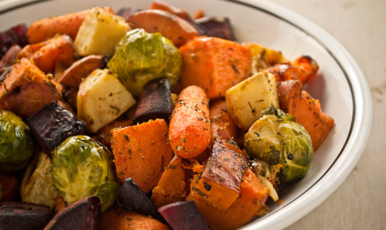 my red rabbit roasted root vegetables