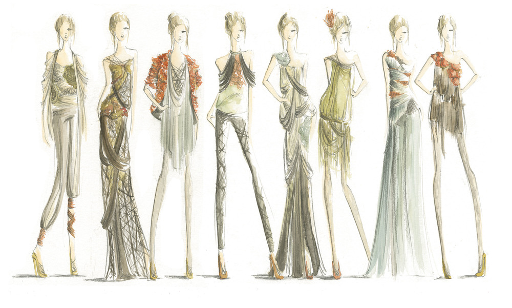 Fashion Sketches Kirby Lee Smith