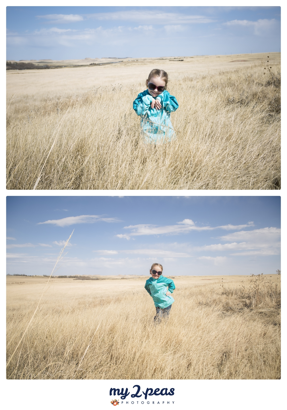 Miss Anna out on the Prairie showin' off her modeling skills.....