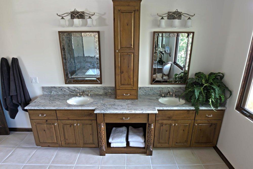Mediterranean Custom Master Bathroom