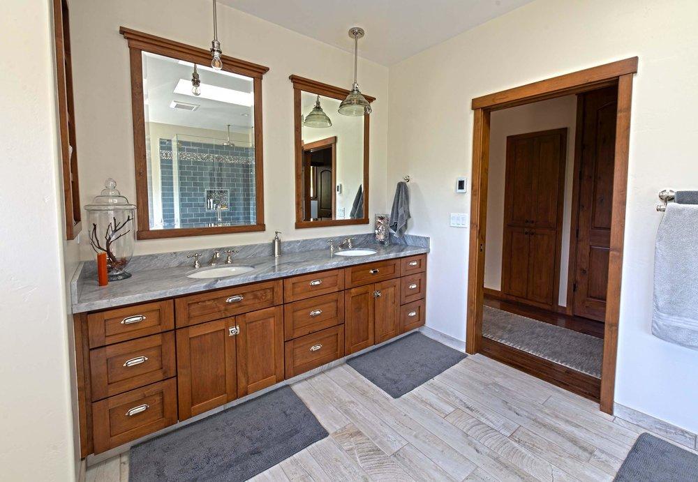 Coastal Craftsmen Master Bathroom