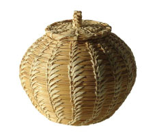 Coiled Papago Lidded Basket $20