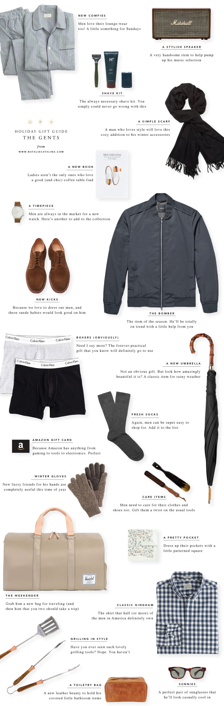 Gift Guide: The Gents on Natalie Catalina