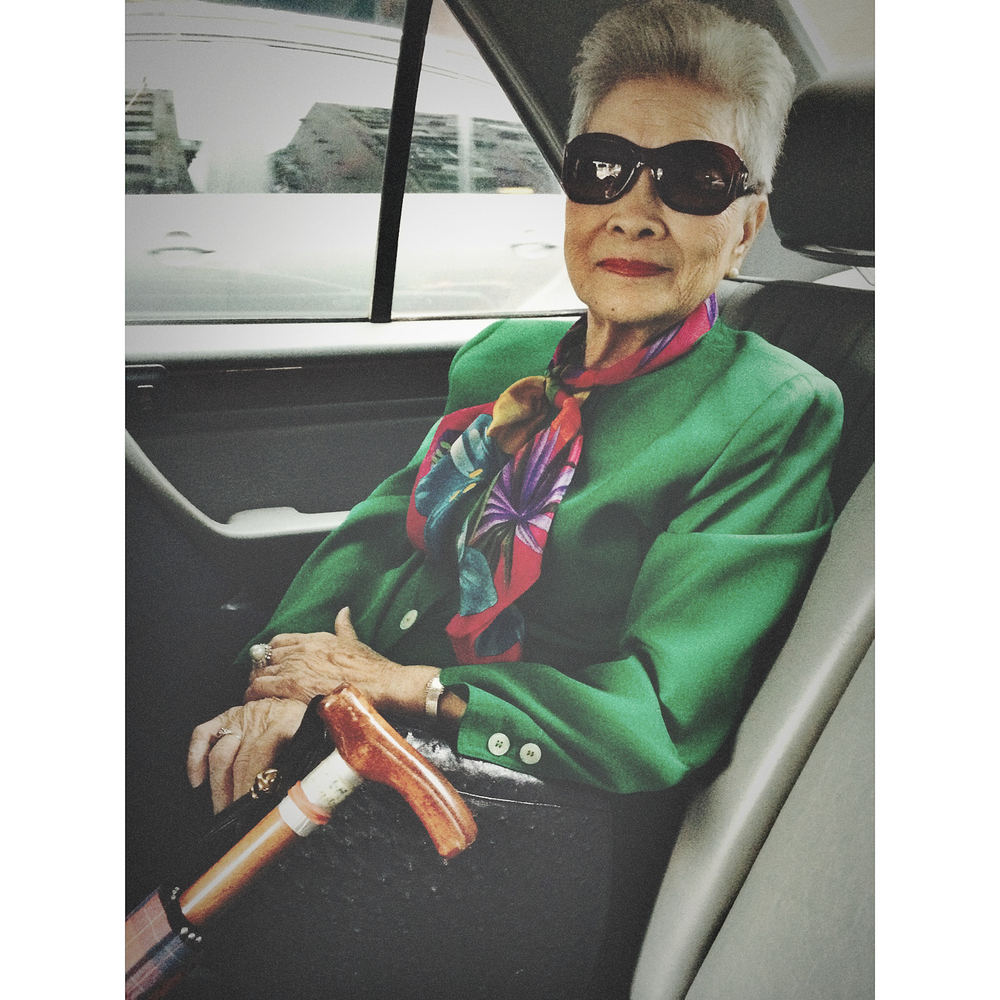 Mister's grandmother, the most fabulous 94 year old, ever.