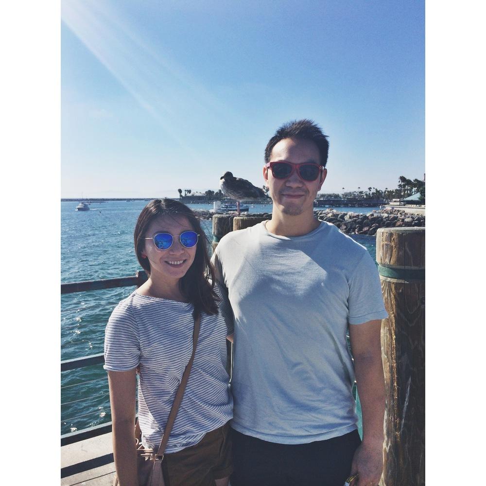 photo w/ seagull, redondo beach pier