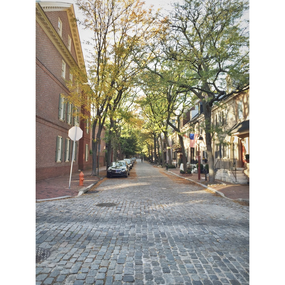 Cobblestone road, and that light <3