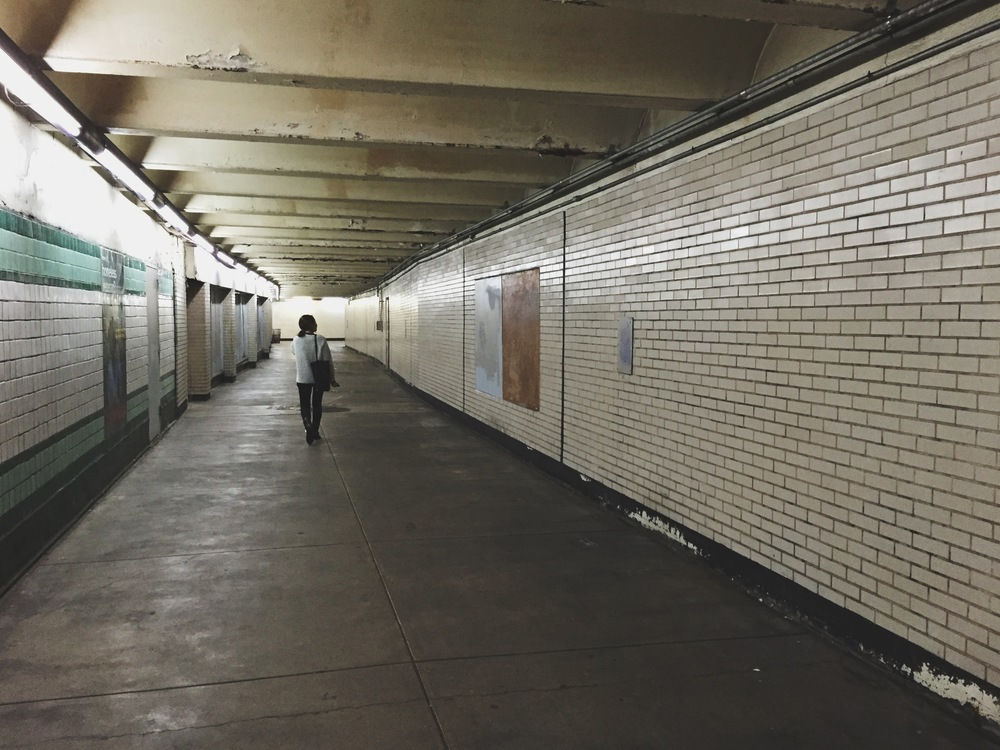 creepy subway underpass.