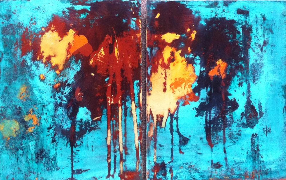 """#1 - 22.5"""" x 14"""" -  Acrylic on Hardboard -$140"""
